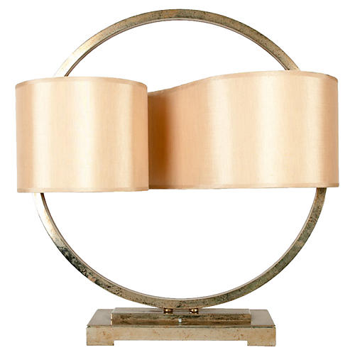 Modernist Brass Lamp