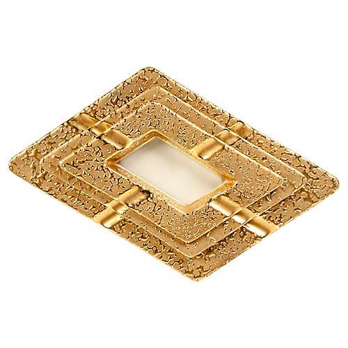 22K Gold Porcelain Nesting Ashtrays, S/3
