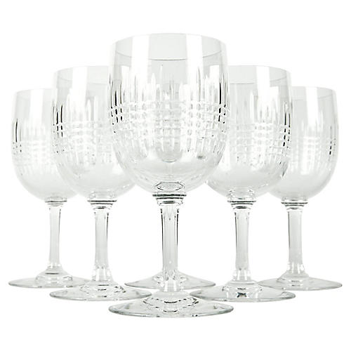 Baccarat Crystal Glasses, S/6