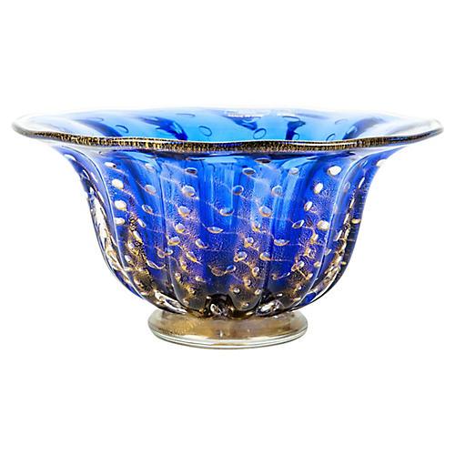 Murano Blue Bowl