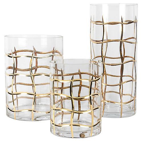 Art Deco-Style Vases, S/3