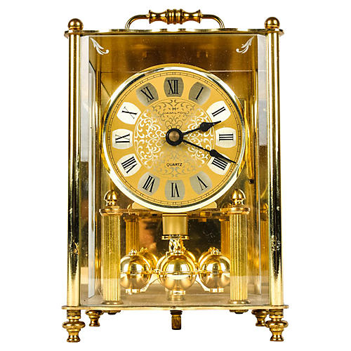 Solid Brass Hamilton Clock