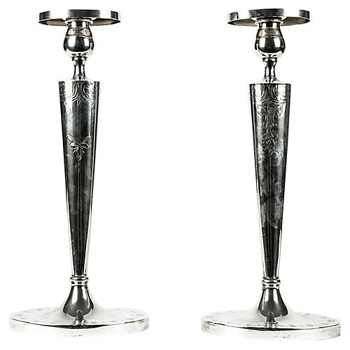 Antique Candlesticks, S/2