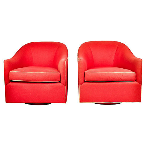 1960s Barrel Chairs, S/2