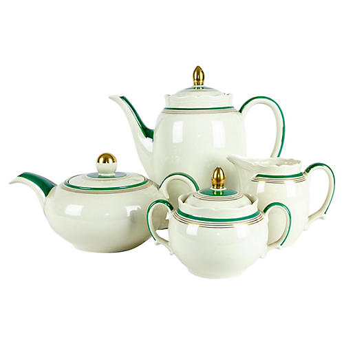 Porcelain Tea & Coffee Set, 4 Pcs