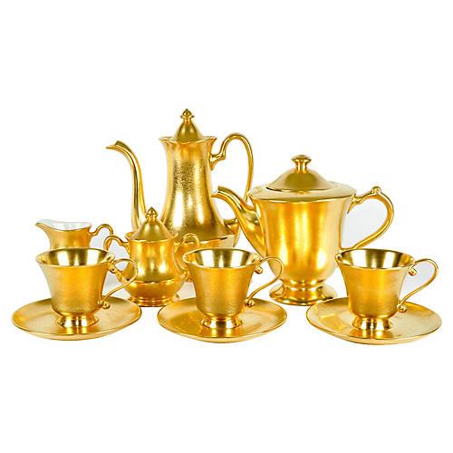 Vintage Gold Porcelain Pickard Service.