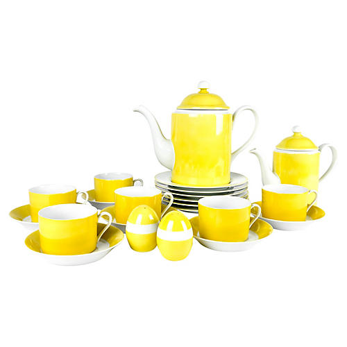 Lemon Porcelain Luncheon Service, 30 Pcs