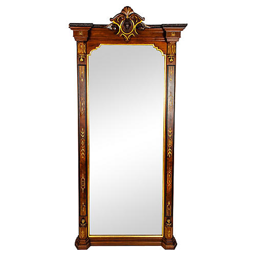 Victorian Floor Length Pier Mirror