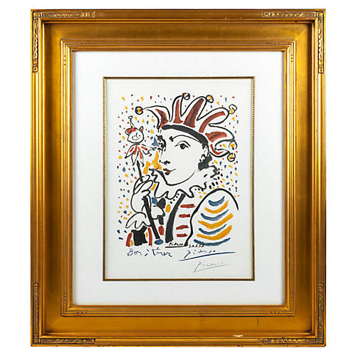Clown by Pablo Picasso