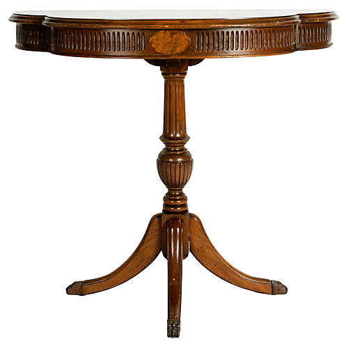 Antique Empire Style Mahogany Demilune