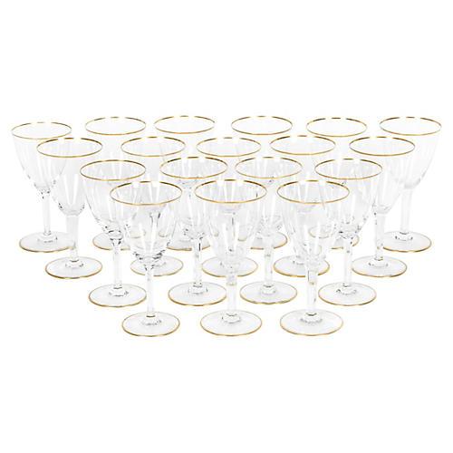 Vintage Baccarat Wine/Water Glass Set
