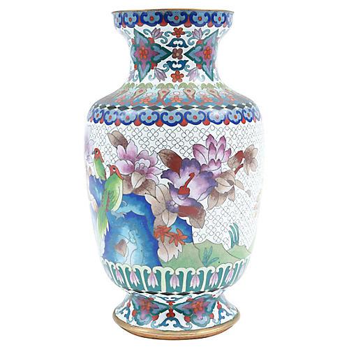 Vintage Cloisonné Decorative Vase