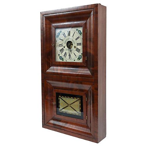 19th Century American Bristol Wall Clock
