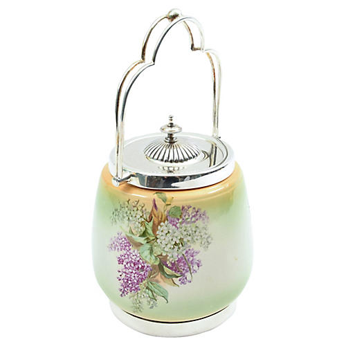 English Porcelain Ice Bucket