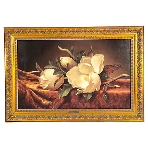 Gilt Wood Framed Oil / Canvas Painting .