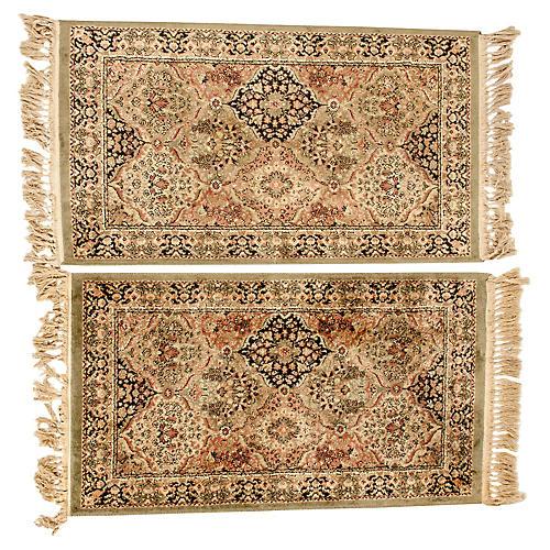 Pair Silk Handmade Area Rugs