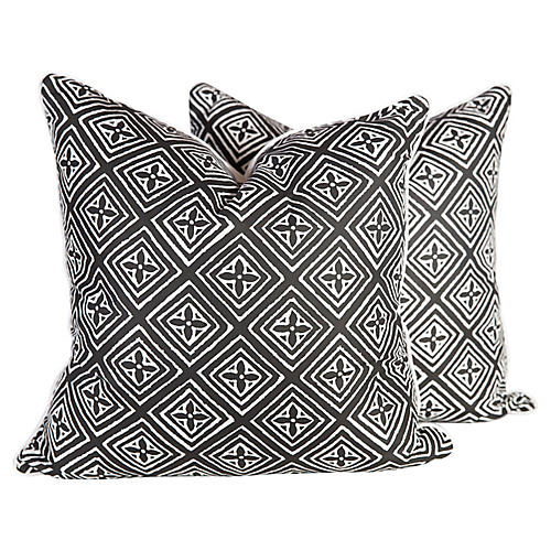 Silk Fiorentina Pillows, S/2