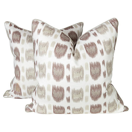 Alan Campbell Linen Cintra Pillows, Pr