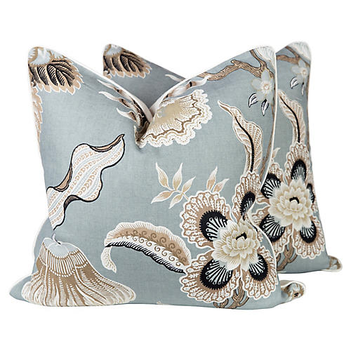 Schumacher Hothouse Flowers Pillows, Pr