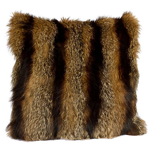 Striped Fur Pillow