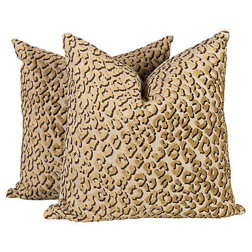 Conga Line Velvet Pillows, Pair