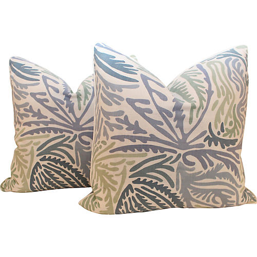 Windsor Linen Vine Pillows, Pair