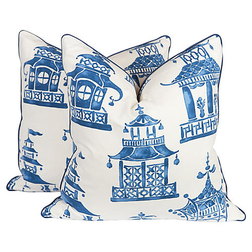 Chinoiserie Pillows, S/2