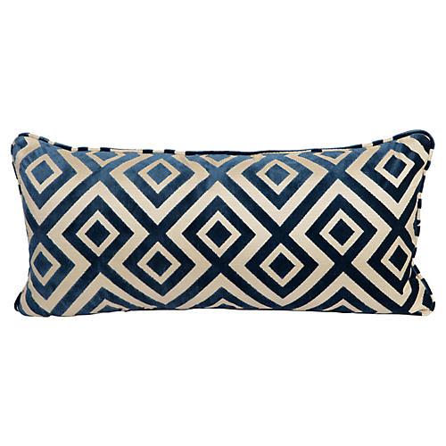 Royal Geometric Velvet Lumbar Pillow