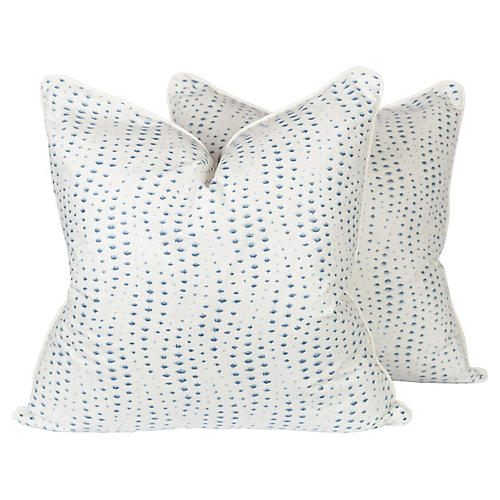 Rippledrop Spotted Pillows, Pair