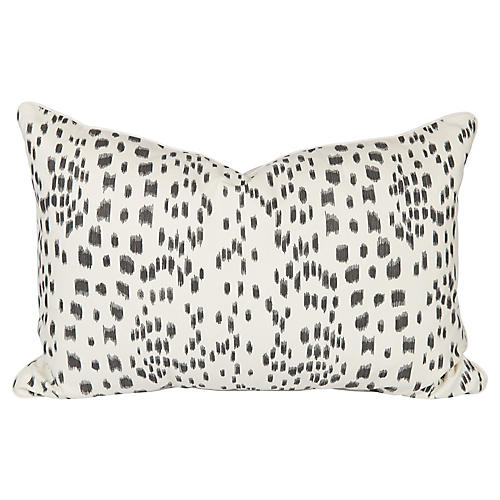 Black & Ivory Les Touches Lumbar Pillow