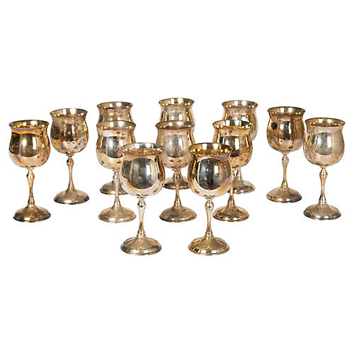 Silver-Plate Goblets, S/12
