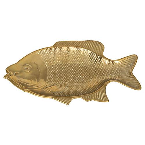 Brass Fish Dish