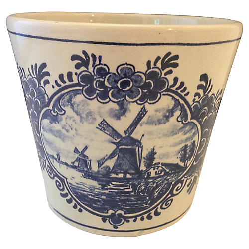 Blue Delft Holland Cachepot