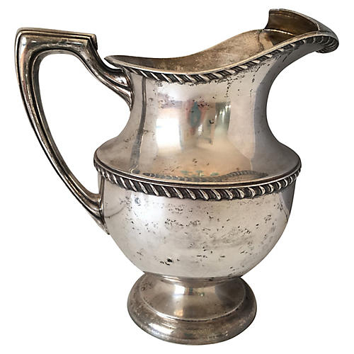 Silver-Plate Water Pitcher