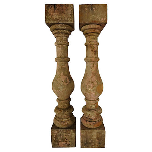 Antique French Balusters, Pair