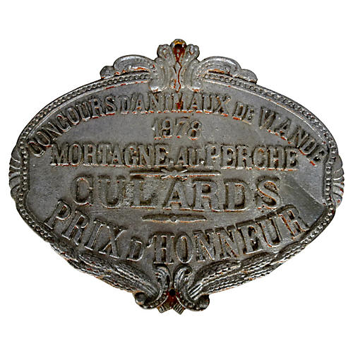 French 1978 Award Plaque