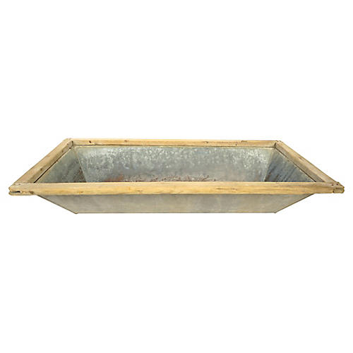 Antique French Zinc Trough