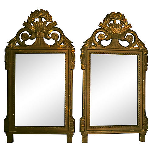 18th-C. French Mirrors, S/2