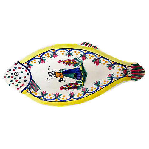 French Quimper Fish Platter