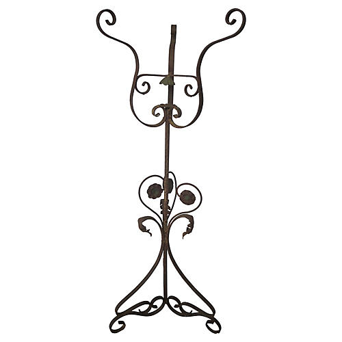 Antique French Iron Plant Stand
