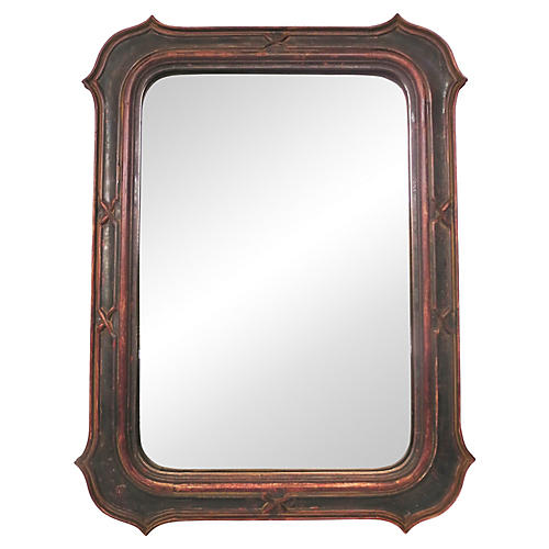 19th-C. Italian Painted Mirror