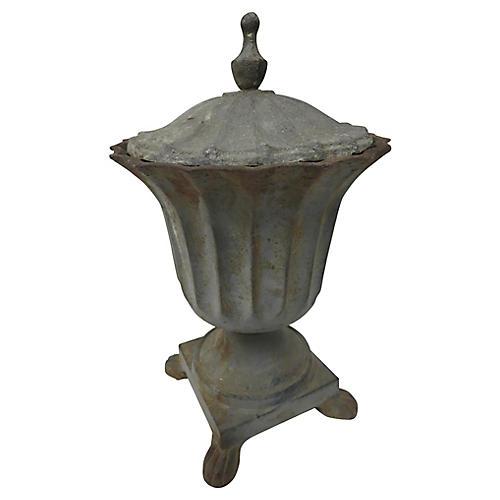 19th-C. French Lidded Urn
