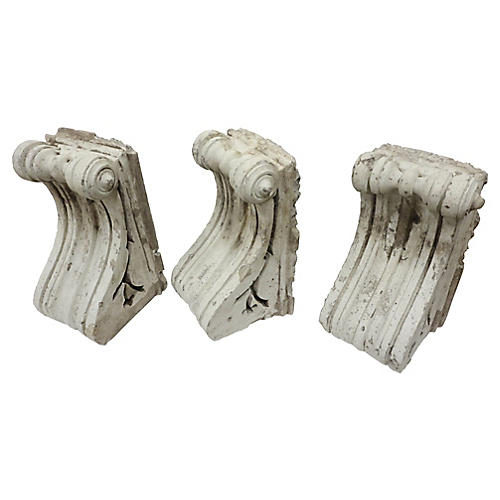 French Architectural Corbels, S/3