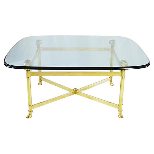 1960s Brass Coffee Table