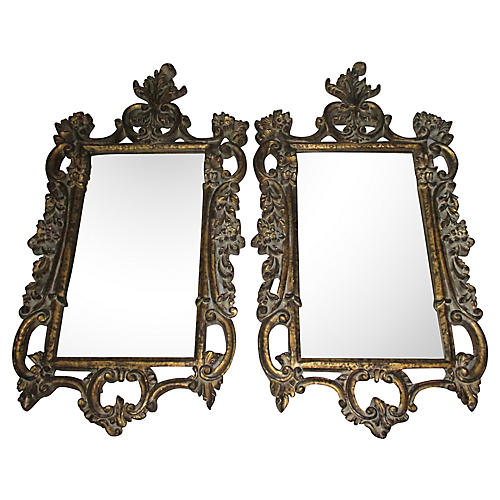 Rococo-Style Mirrors, Pair