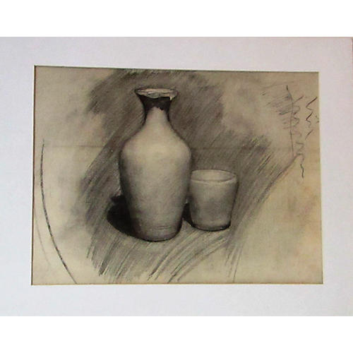 Charcoal Drawing, Ceramics