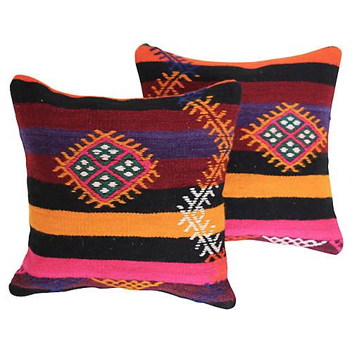 Turkish Cushions, Pair