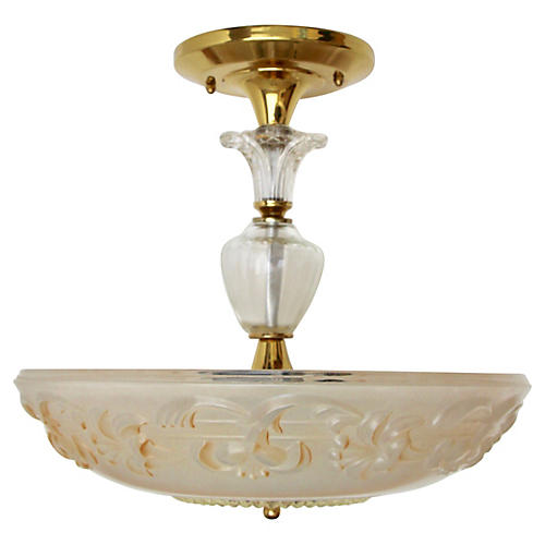 Frosted Glass Semi-Flush Mount Fixture