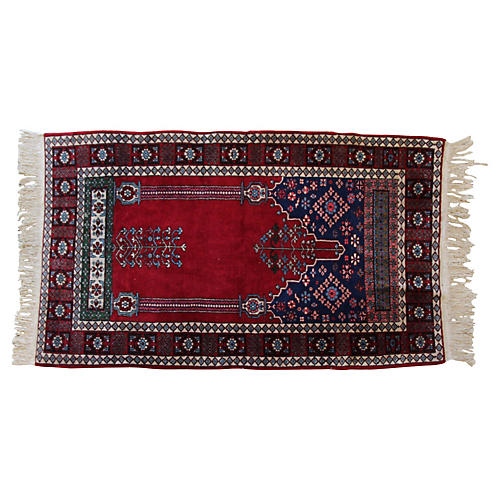 "Turkish Prayer Rug, 3'2"" x 5'5"""