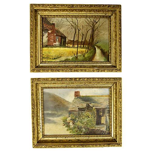 European Landscape Paintings, S/2